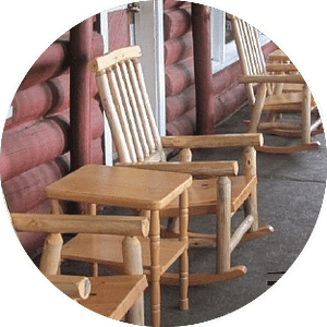 Thunderstock Outfitters Main Lodge Rocking Chairs
