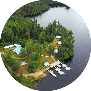 Thunderstock Outfitters Camp Aerial View